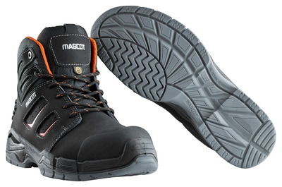 MASCOT® Rimo - Schwarz/Dunkelorange - Sicherheitsstiefel