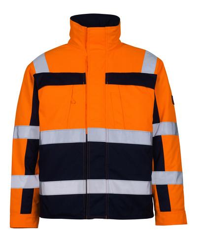 MASCOT® Timon - hi-vis Orange/Marine* - Pilotjacke mit Steppfutter, Klasse 3