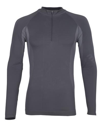 MASCOT® Valongo - Dunkelanthrazit - Funktionsunterhemd mit kurzem Reißverschluss, geringes Gewicht, feuchtigkeitstransportierend